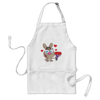 Cute Light Brown Bunny Adult Apron