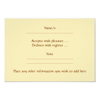 Cute Light Brown Rabbit. 3.5x5 Paper Invitation Card