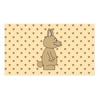 Cute Light Brown Rabbit. Business Card