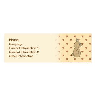 Cute Light Brown Rabbit. Mini Business Card