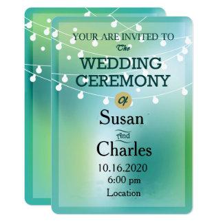 Cute Light Bulb Wedding Invitation
