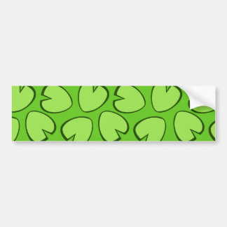 Cute Light Green Lily Pad Leaves Design Bumper Sticker