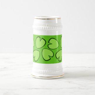 Cute Light Green Lily Pad Leaves Design Mug