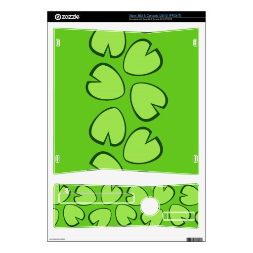 Cute Light Green Lily Pad Leaves Design Skin For The Xbox 360 S