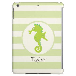 Cute Light Green Seahorse Case For iPad Air