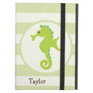 Cute Light Green Seahorse iPad Air Covers