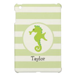 Cute Light Green Seahorse iPad Mini Cases