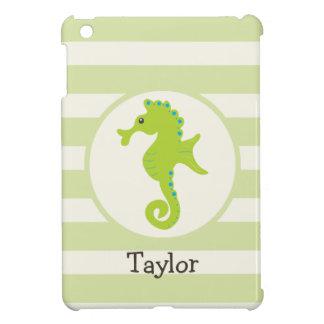 Cute Light Green Seahorse iPad Mini Case