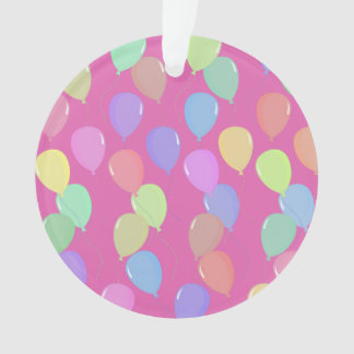 Cute Light Pink Floating Colorful Pastel Balloons