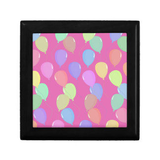 Cute Light Pink Floating Colorful Pastel Balloons Jewelry Boxes