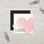 """Cute Light Pink Glitter Heart Beauty Salon Square Business Card<br><div class=""""desc"""">Bold and trendy - digital image of pink glitter heart. For additional matching marketing materials,  custom design or logo inquiry,  please contact me at maurareed.designs@gmail.com and I will reply within 24 hours. For shipping,  cardstock inquires and pricing contact Zazzle directly.</div>"""