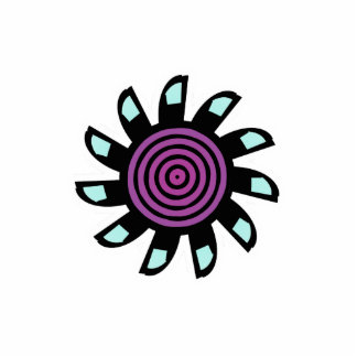 Cute Lightblue Purple Flower Cutout