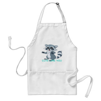 "cute like you ""racoon"" adult apron"