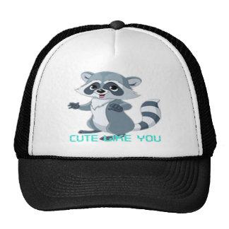 """cute like you """"racoon"""" trucker hat"""