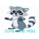 """cute like you """"racoon"""" post card"""