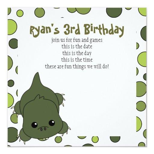 Cute Lil' Alligator Card