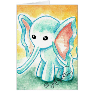 Cute Li'l Baby Elephant Card
