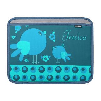 Cute lil Birdie MacBook Air Sleeve Blue2