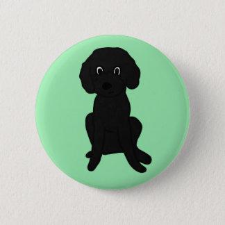 Cute Lil' Black Poodle Mix :3 Pinback Button