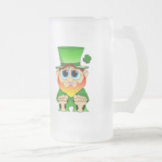 Cute Lil Blarney Frosted Glass Beer Mug