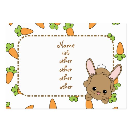 Cute Lil' Bunny Large Business Cards (Pack Of 100)