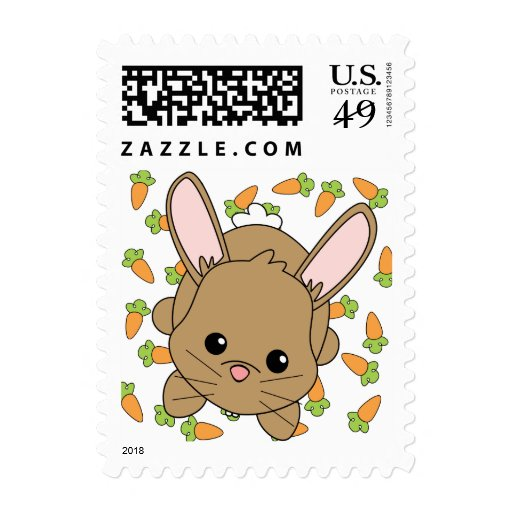 Cute Lil' Bunny Postage Stamps