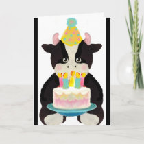 cute lil' cow birthday card