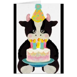 cute lil cow birthday card
