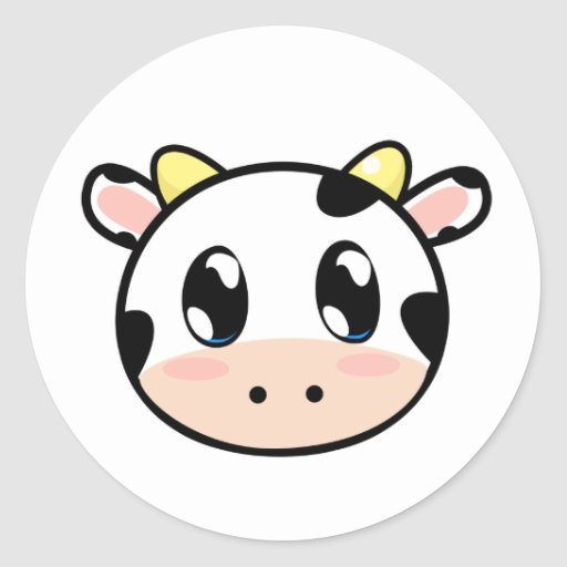 Cute Lil' Cow Sticker