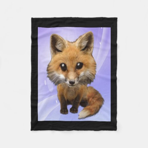 Cute lil Fox Fleece Blanket