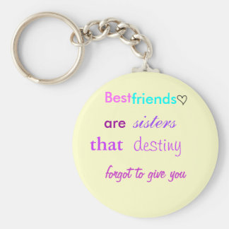 cute lil heart, Best , friends, are , sisters, ... Keychain