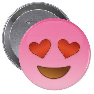 Cute lil Heart Eyes emoji Button
