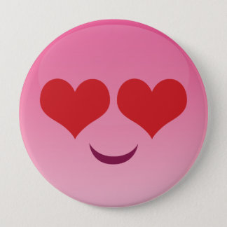 Cute lil Heart Eyes emoji Pinback Button