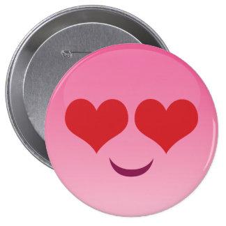 Cute lil Heart Eyes emoji Pinback Button