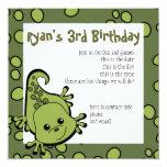 "Cute Lil' Lizard 5.25"" Square Invitation Card"