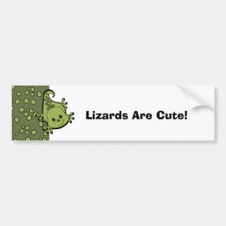 Cute Lil' Lizard Car Bumper Sticker
