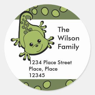 Cute Lil' Lizard Classic Round Sticker