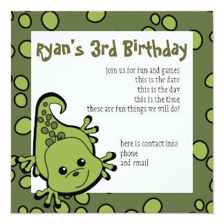 Cute Lil' Lizard Invitation