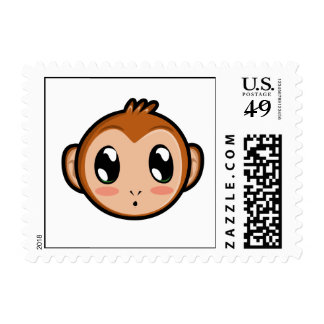 Cute Lil' Monkey Postage