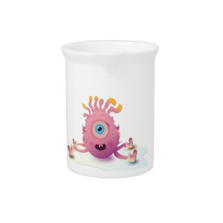 Cute Lil monster Drink Pitcher