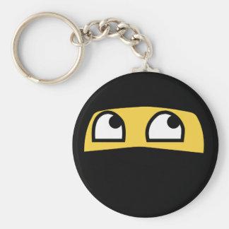 Cute lil' ninja emoji basic round button keychain