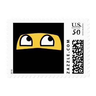 Cute lil' ninja emoji postage