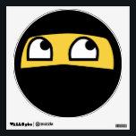 """Cute lil&#39; ninja emoji wall sticker<br><div class=""""desc"""">Cute lil&#39; ninja warrior emoji wall decals.     Contact me for custom design requests.</div>"""