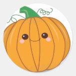 Cute Lil Pumpkin Round Stickers