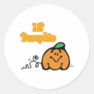 Cute Lil Pumpkin Classic Round Sticker