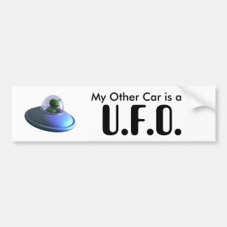 Cute Lil UFO Bumper Sticker Car Bumper Sticker