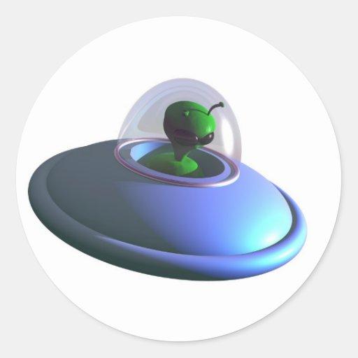 Cute Lil UFO Sticker