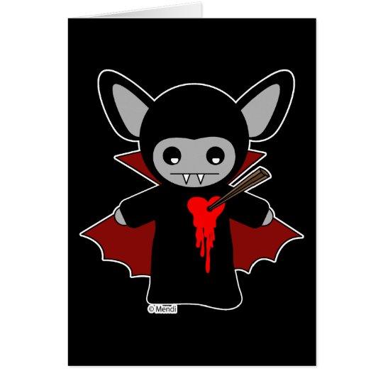 Cute Lil Vampire Bat Card