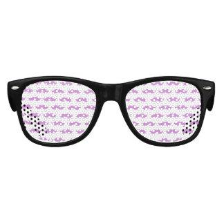 Cute Lilac and White Mustache Pattern 1 Kids Sunglasses