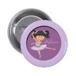 Cute lilac Ballerina 1 Custom Name Pins